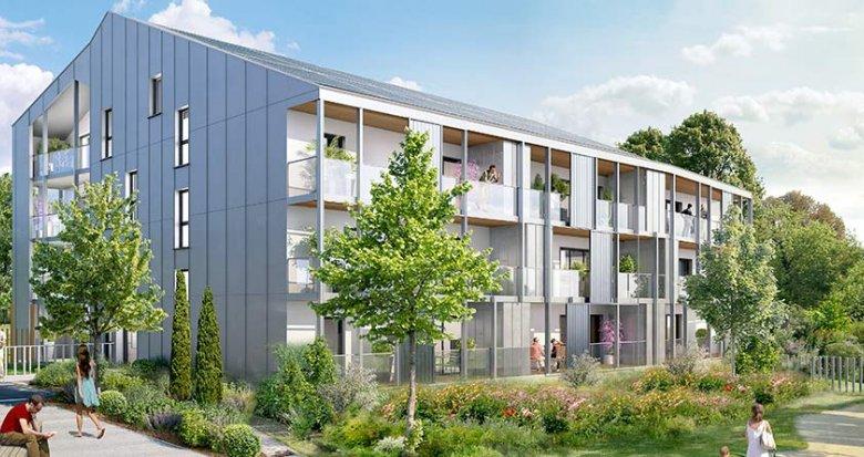 Achat / Vente immobilier neuf Carquefou dans l'éco-quartier de la Fleuriaye II (44470) - Réf. 1118