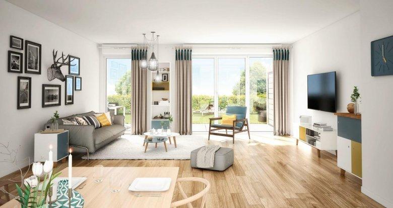 Achat / Vente immobilier neuf Couëron dans un environnement boisé à 3 minutes du centre (44220) - Réf. 4062